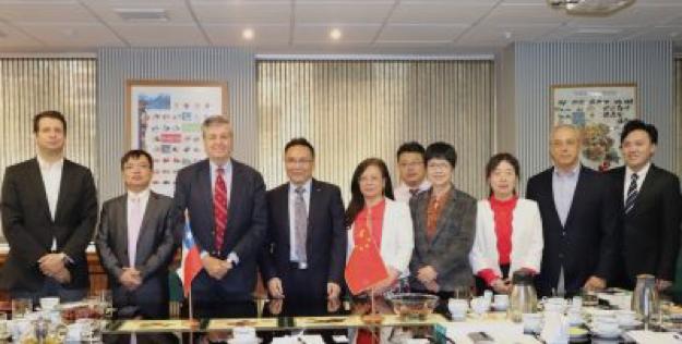 Equipo de Profesionales de la Academia de Ciencias de Jiangxi y representantes de ASOEX y el Comité del Kiwi de Chile